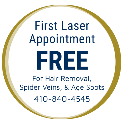 First Laser Appointment Free for Hair Removal & Spider Veins